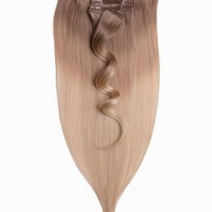 Rapunzel Of Sweden 50 Cm Ombre Clip-On Set 7 Pieces Hiustenpidennys Cendre Ash Blond