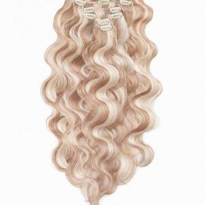 Rapunzel Of Sweden Clip-On Set Body Wave 60cm Hiustenpidennys Cendre Ash Blond Mix