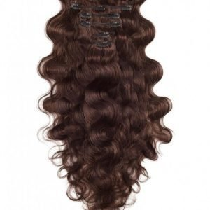 Rapunzel Of Sweden Clip-On Set Body Wave 60cm Hiustenpidennys Chocolate Brown
