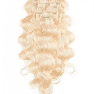 Rapunzel Of Sweden Clip-On Set Body Wave 60cm Hiustenpidennys Light Blond