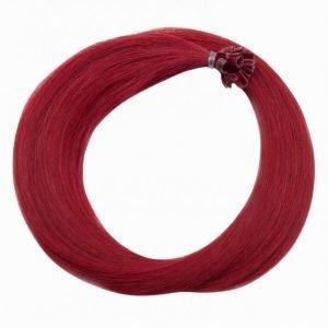 Rapunzel Of Sweden Nail Hair Original Rakt 50cm Hiustenpidennys Red