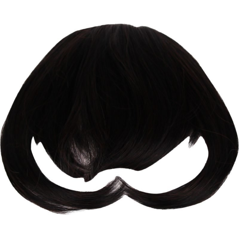 Rapunzel of Sweden Clip In Hair Fringe #1B/2 Dark Brown
