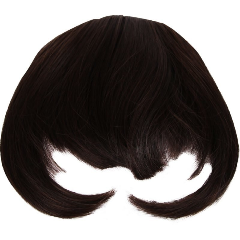 Rapunzel of Sweden Clip In Hair Fringe #2 Chocolate Brown