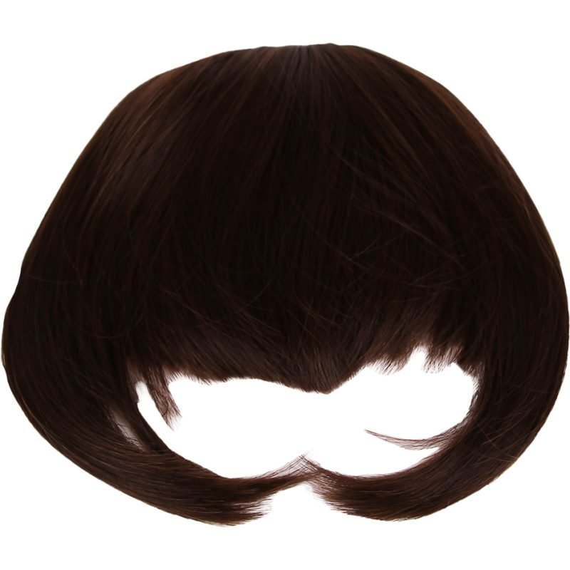 Rapunzel of Sweden Clip In Hair Fringe #2/4 Mocca Brown