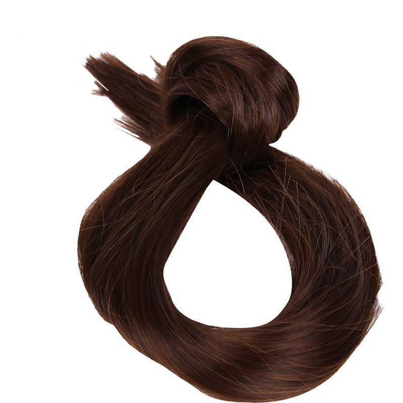 Rapunzel of Sweden Clip-On Ponytail #2/4 Dark Brown 40cm