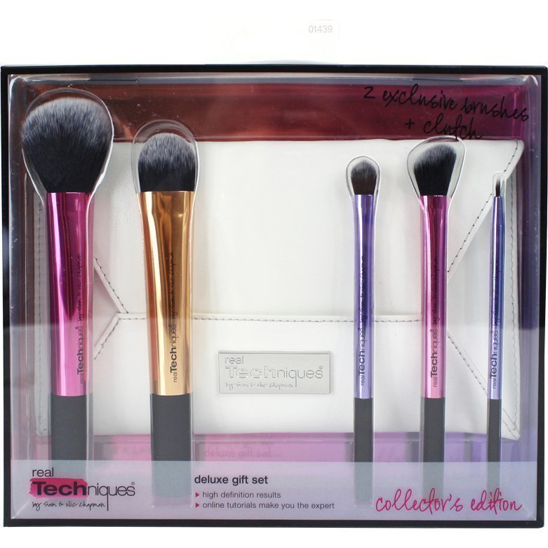 Real Techniques Collector's Edition Deluxe Gift Set 5 Exclusive Brushes Clutch