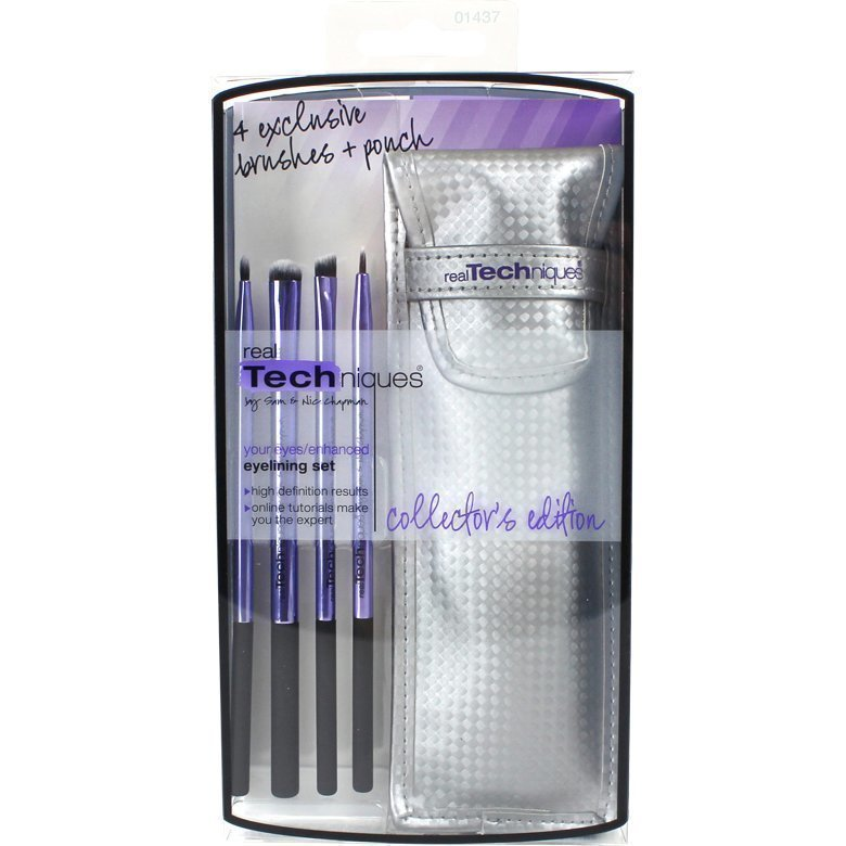 Real Techniques Collector's Edition Eyelining Set 4 Exclusive Brushes Ponch