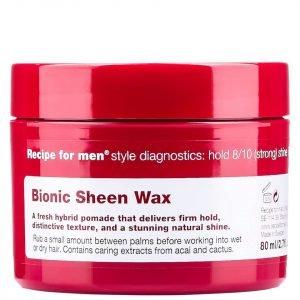 Recipe For Men Bionic Sheen Wax 80 Ml