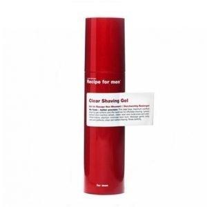 Recipe For Men Clear Shaving Gel 100 Ml Parranajogeeli