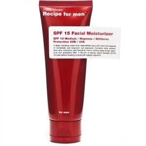 Recipe For Men Facial Moisturiser Spf15 75 Ml