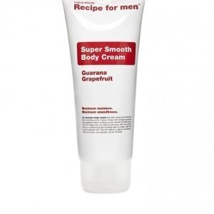 Recipe For Men Super Smooth Body Cream 200 ml Valkoinen
