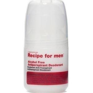 Recipe for men Alcohol Free Antiperpirant Deodorant 60ml