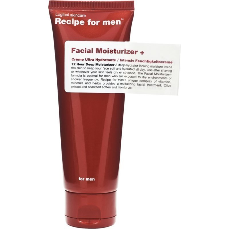 Recipe for men Facial Moisturizer + 75ml