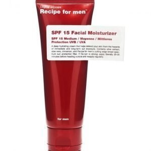 Recipe for men SPF 15 Facial Moisturizer 75ml
