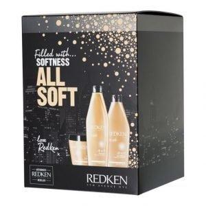 Redken All Soft Box Tuotepakkaus Shampoo Hoitoaine Ja Hiusnaamio