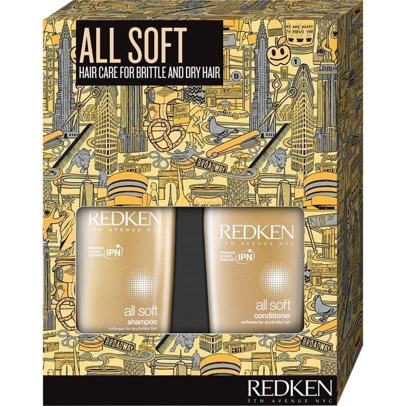 Redken All Soft Set Shampoo 300ml Conditioner 250ml