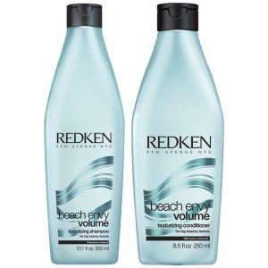 Redken Beach Envy Volume Texturizing Shampoo 300 Ml & Beach Envy Volume Texturizing Conditioner 250 Ml