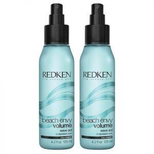 Redken Beach Envy Volume Texturizing Shampoo Duo 2 X 300 Ml