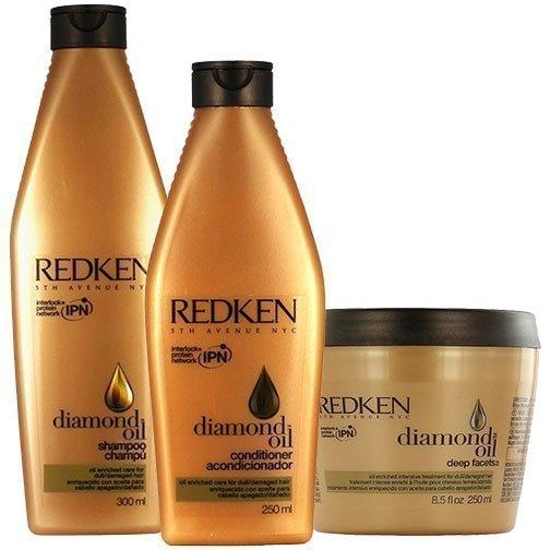Redken Diamond Oil Trio Shampoo 300ml Conditioner 250ml Mask 250ml
