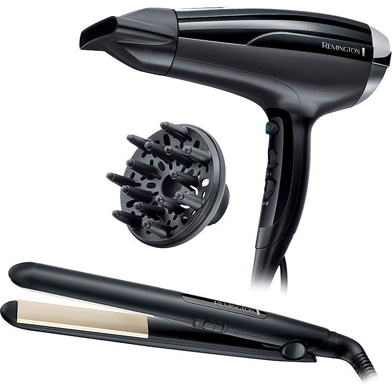 Remington Ultimate Hair Gift PackAir Shine Dryer S1510 Ceramic Slim Straightener