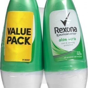 Rexona Aloe Vera 50 Ml Antiperspirantti Roll-On 2 Kpl