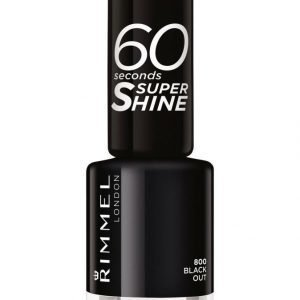 Rimmel 60 Seconds Super Shine Kynsilakka Black Out