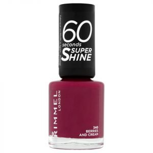 Rimmel 60 Seconds Super Shine Nail Polish 8 Ml Various Shades Berries And Cream