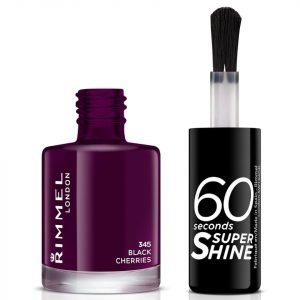 Rimmel 60 Seconds Super Shine Nail Polish 8 Ml Various Shades Black Cherries