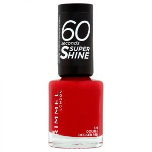 Rimmel 60 Seconds Super Shine Nail Polish 8 Ml Various Shades Double Decker Red