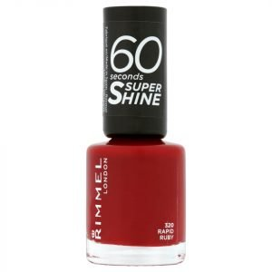 Rimmel 60 Seconds Super Shine Nail Polish 8 Ml Various Shades Rapid Ruby