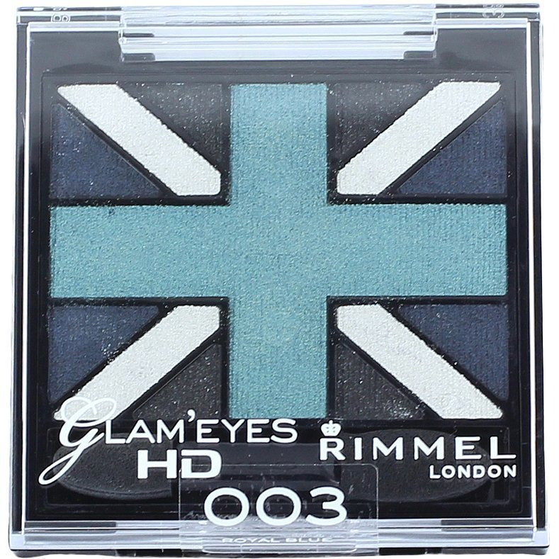 Rimmel Glam Eyes HD Quad Eyeshadow 003 Royal Blue 2