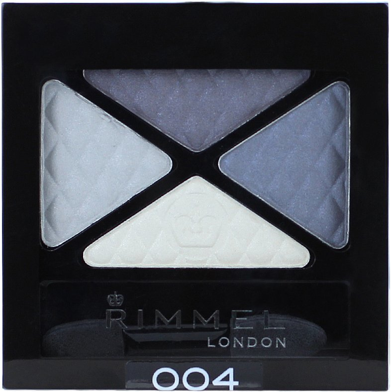 Rimmel Glam Eyes Quad Eyeshadow 004 Smokey Blue 4