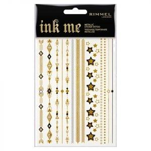 Rimmel Ink Me Metallic Sticker Tattoo Sheets 2-Piece 15 G