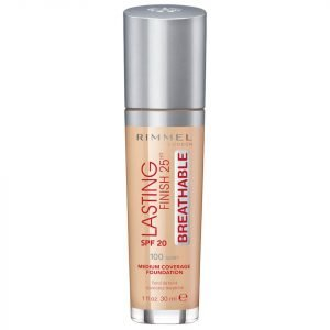 Rimmel Lasting Finish Breathable Foundation 30 Ml Various Shades Ivory