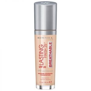 Rimmel Lasting Finish Breathable Foundation 30 Ml Various Shades Light Porcelain