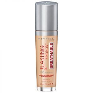 Rimmel Lasting Finish Breathable Foundation 30 Ml Various Shades Soft Beige