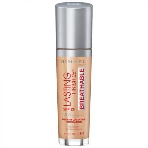 Rimmel Lasting Finish Breathable Foundation 30 Ml Various Shades True Beige