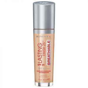 Rimmel Lasting Finish Breathable Foundation 30 Ml Various Shades True Ivory