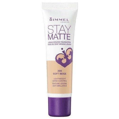 Rimmel London Stay Matte Liquid Mousse Foundation 200 Soft Beige