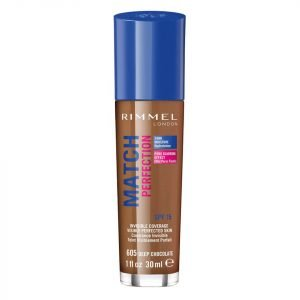 Rimmel Match Perfection Foundation 30 Ml Various Shades Deep Chocolate