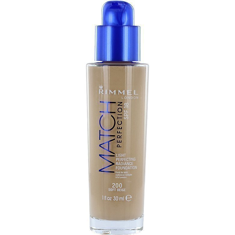 Rimmel Match Perfection Foundation SPF18 200 Soft Beige 30ml