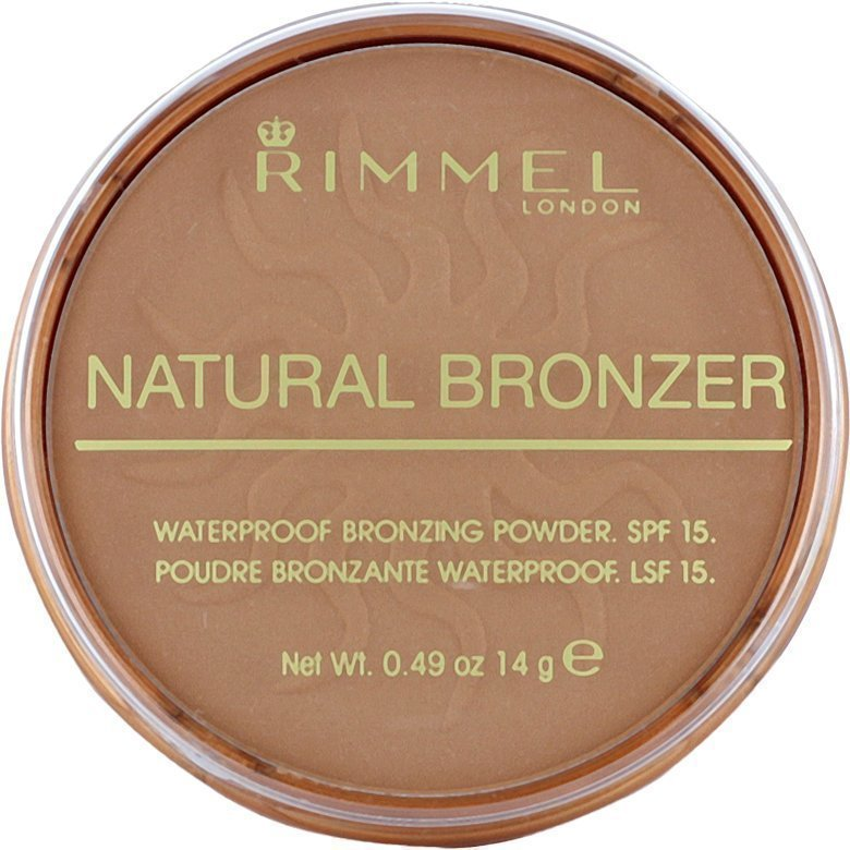 Rimmel Natural Bronzer Waterproof SPF15 Bronzing Powder 021 Sun Light 14g
