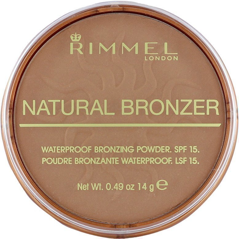 Rimmel Natural Bronzer Waterproof SPF15 Bronzing Powder 022 Sun Bronze 14g