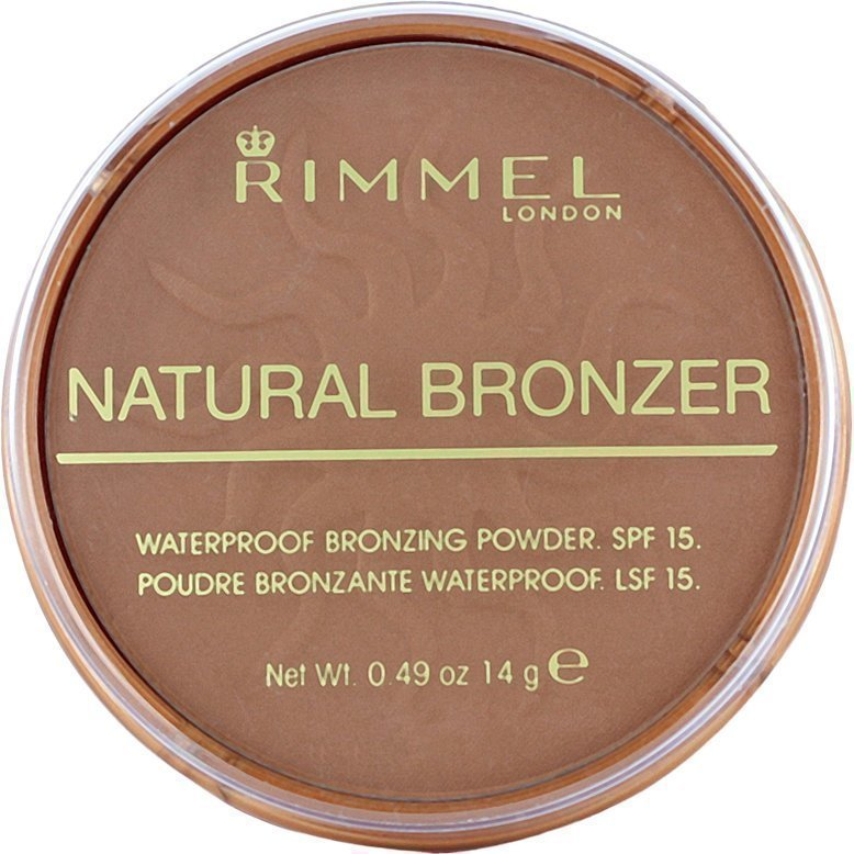 Rimmel Natural Bronzer Waterproof SPF15 Bronzing Powder 026 Sun Kissed 14g