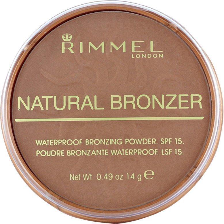 Rimmel Natural Bronzer Waterproof SPF15 Bronzing Powder 026 Sun Kissed 14g