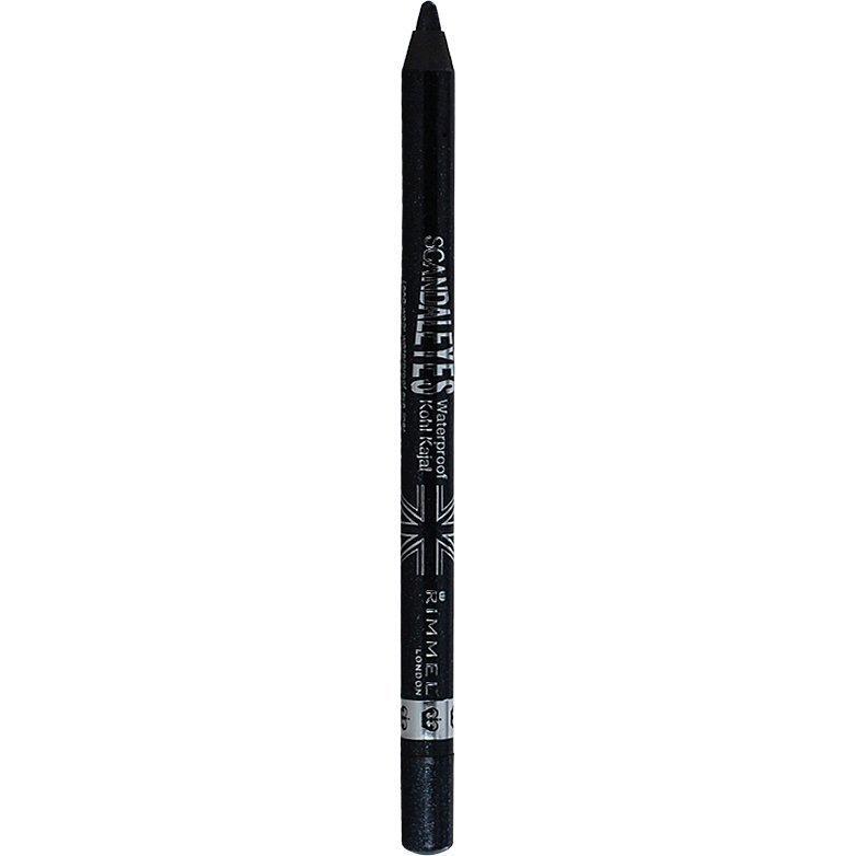 Rimmel Scandaleyes Waterproof Kohl Kajal 002 Sparkling Black 1