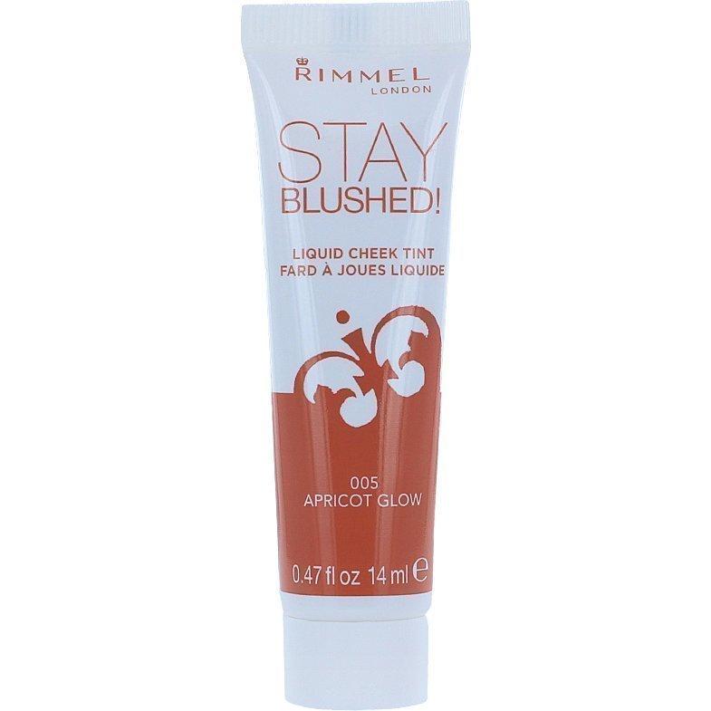 Rimmel Stay Blushed Liquid Cheek Tint 005 Apricot Glow 14ml