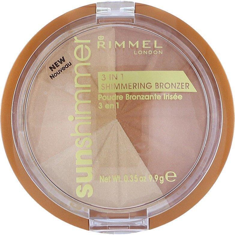 Rimmel Sun Shimmer 3 In 1 Shimmering Bronzer 001 Gold Princess 9