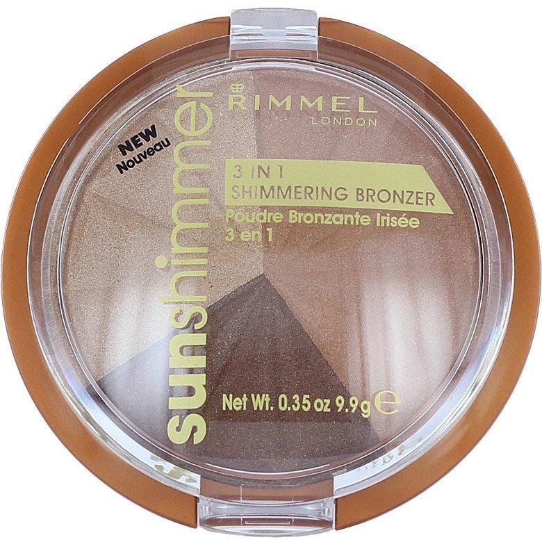 Rimmel Sun Shimmer 3 In 1 Shimmering Bronzer 002 Bronze Goddess 9