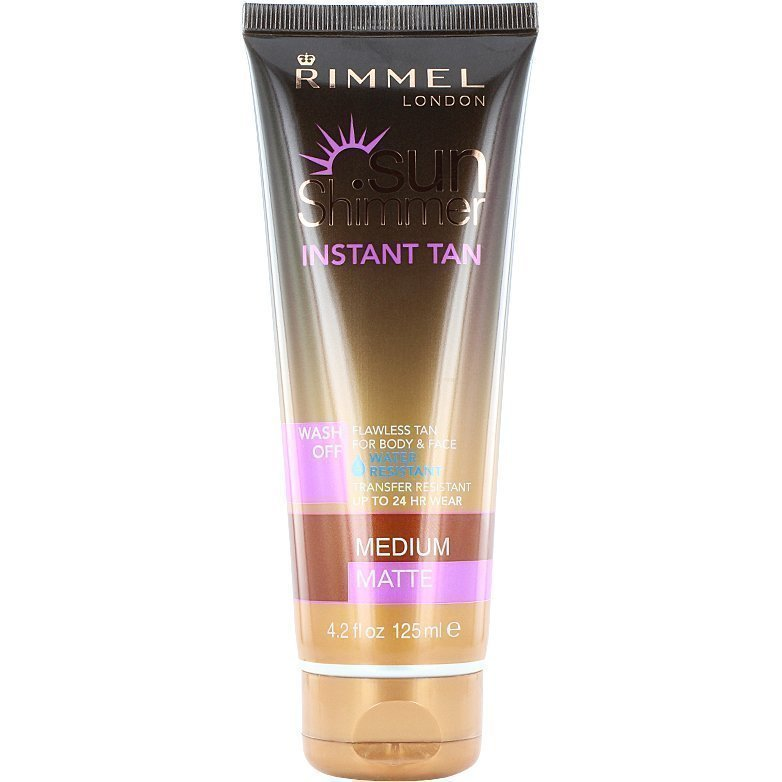 Rimmel Sun Shimmer Instant Tan Gradual Glow Medium Matte Lotion 125ml